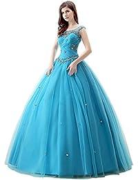 Engerla - Vestido de quinceañera para mujer, diseño de flores, con cristales