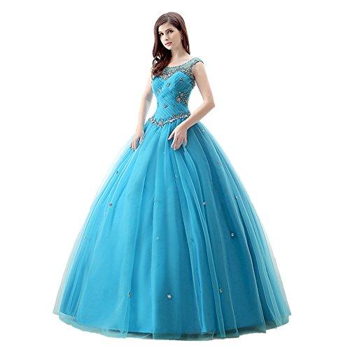 Vestido azul quinceanera