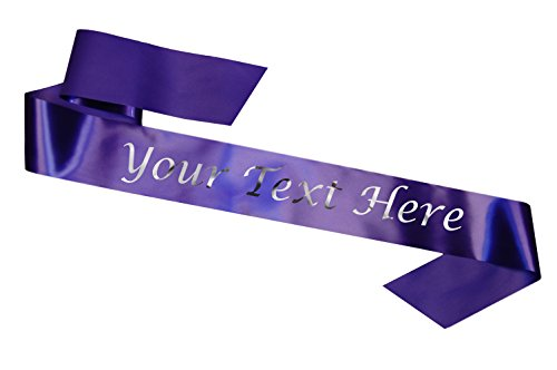 rsonalisiert Purple Schärpe Sash Hen Party Night Do Birthday Prom Promotion... ()