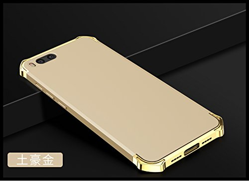 YHUISEN Xiaomi Mi6 Case, Fashion 3 in 1 Heavy Duty High Impact Matte Plating Shockproof Anti-Drop PC Hard Schutzhülle für Xiaomi Mi6 ( Color : Black Gold ) Gold