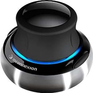 3DConnexion SpaceNavigator 3D-Maus, USB-schnurgebunden, schwarz