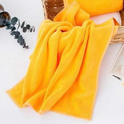 dusg Autowäsche großes Handtuch Verdickung, Reinigung trockenes Handtuch, sauberes Handtuch aus reinem Polyester Handtuch Autowäsche Reinigungstuch, 10 Stück, gelb, 35 * 75 cm