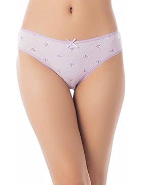 iB-iP Mujer Confort Suave De Algodón Bowknot Mediados De Cintura Pantalón Corto
