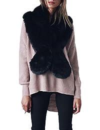 Vovotrade Ladies Women's Luxury Winter Warm Scarf Neck Warmer Wrap Collar Elegant Shawl Stole (Black)