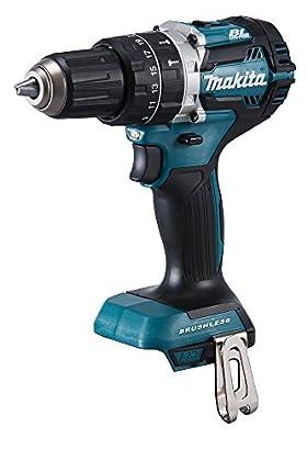 Makita DHP484Y1J Negro, Azul - Taladro (Taladro de pistola, perforacion, Martillo perforador, Negro, Azul, 2000 RPM, 3,8 cm, 1,3 cm)