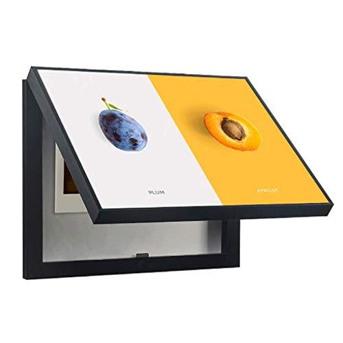 YILIAN BHUA Flip-up Stromzähler Box Dekorative Malerei Für Restaurant Hotel Schlafzimmer, Einfache Moderne Obst Muster Schwarz PS Rahmen Kristall Oberfläche, Querschnitt Wandbild