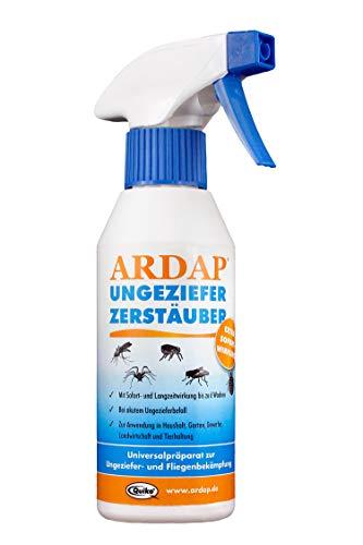 fliegen abwehr ARDAP Zerstäuber – Wirkungsvolles Insektizid gegen Fliegen, Schädlinge oder Lästlinge – Pumpspray für Zuhause oder in unmittelbarer Nähe von Tieren – 1 x 250 ml
