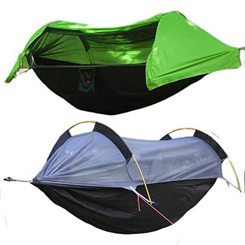 WintMing Campeggio Amaca con zanzariera e parapioggia Grande Amaca Portatile per Campeggio, Escursioni, Kayak e Viaggi, Yellow