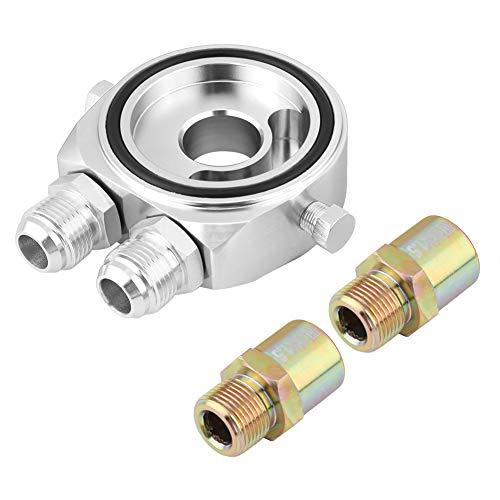 KIMISS Alluminio M20 x 1,5 Alluminio Filtro olio Refrigeratore Piastra adattatore 1/8 NPT Kit radiatore olio(argento /)