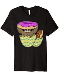 Faultier Donuts Eier Lustiges Witziges Ostern Geschenk Shirt