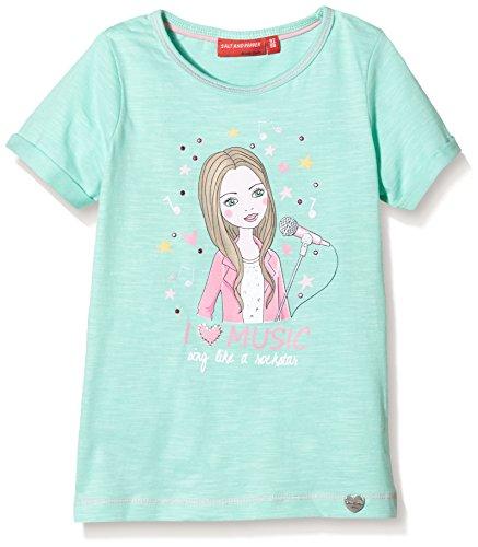 SALT AND PEPPER Mädchen T-Shirt Princess uni, Einfarbig, Gr. 92 (Herstellergröße: 92/98), Grün (ice green 531) (Green T-shirt Princess)