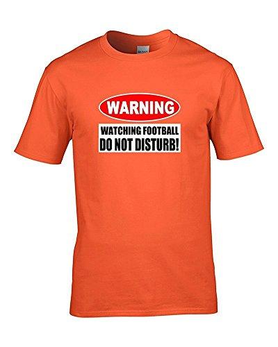 Avvertenza, non guardare FOOTBALL DISTURB-jokey-Maglietta da uomo per tifosi di grasso a cucù Arancione