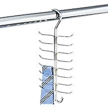 mDesign Corbatero con 17 ganchos para colgar corbatas, cinturones, pañuelos, chales etc.