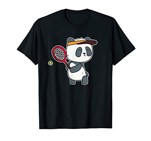 Lustiges Panda spielt Tennis Shirt - Tennis Spieler T-Shirt (Tennis-spieler)