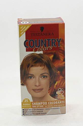 Testanera country colors shampoo colorante n.25 dublino biondo rosso