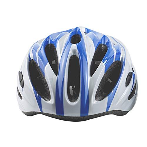 ZDD Skating Helm Erwachsene Kinder Rollschuhe Fahrradhelm Erwachsene Männer Und Frauen Einstellbare Größe (Farbe : Blau)