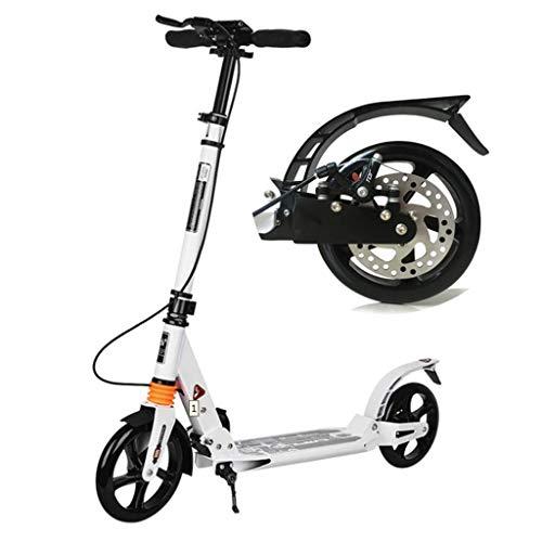 Faltbarer Erwachsener Roller Erwachsener Roller-zweirädriger faltender zweirädriger Stadt-Arbeits-gehender Werkzeug-Campus-Aluminiumlegierungs-fahrbarer Roller (Color : B)