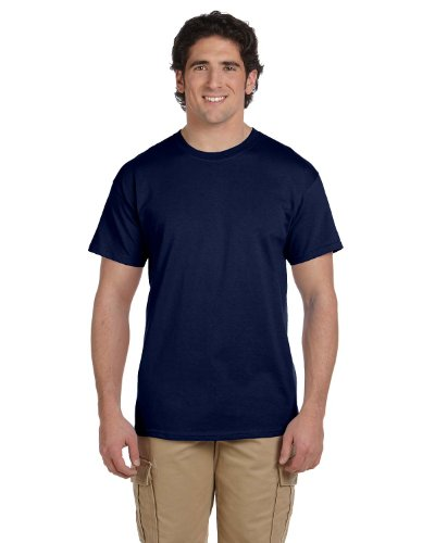 Hanes 5.2 OZ, 50/50 ComfortBlend EcoSmart T-Shirt (5170) Pack of 3 Navy