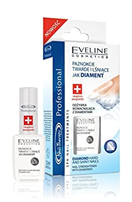 "Eveline Cosmetics - Nail Treatment for Weak Nails - ""Diamond Hard & Shiny Nails - Nail Strengther with Diamonds"""