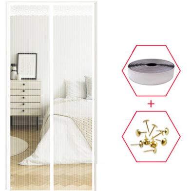 NQFL Fliegengitter Tür Insektenschutz Automatischer Schließvorhang Mit Starken Magneten Sommer Fliegenvorhang Kein Stanzen (Multi-Size