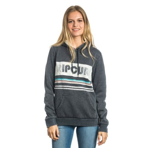 Rip Curl Active Stripe Fleece Felpa, Nero, XS