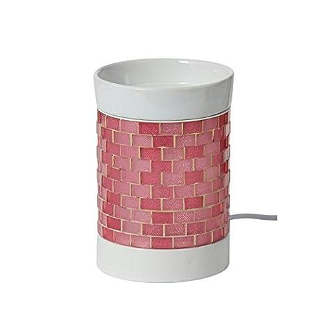 Yankee Candle Glitter Glow Diffuseur électrique, Céramique, rose/blanc, 12.5 x 10 x 10 cm