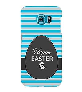 Fiobs Designer Back Case Cover for Samsung Galaxy S6 G920I :: Samsung Galaxy S6 G9200 G9208 G9208/Ss G9209 G920A G920F G920Fd G920S G920T (Happy Ester Festivals Christian Rabbit Stripes Mobile Case)