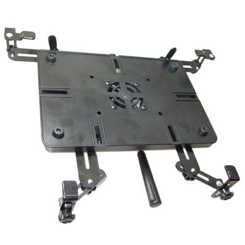 Bracketron Kfz-Halterung für Laptops bis zu 43,2 cm (17 Zoll) - Befestigung am Beifahrersitzbolzen mittels Schnellspann-Armatur LTM-MS-525 Bracketron Gps-mount