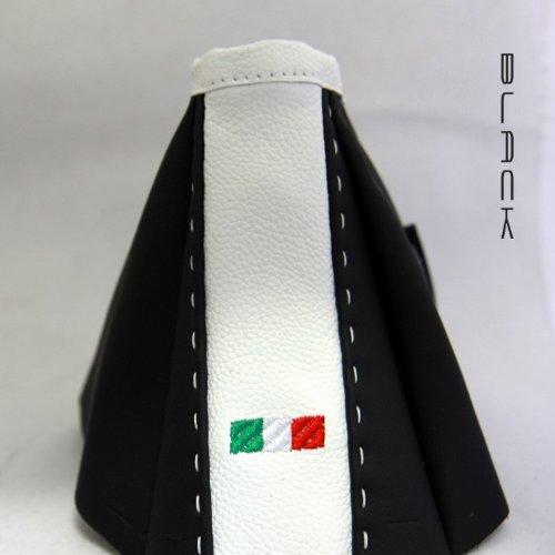 Black IT Cuffia Cambio Alfa 159 Smoking Nero con Bandiera It