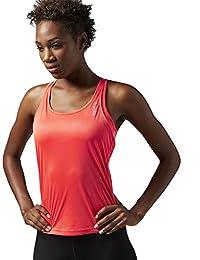 Reebok RE LBT - Camiseta para mujer, color rojo, talla S