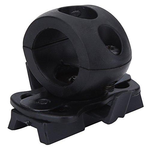 Airsoft Taschenlampe Stirnlampe Halter Schnellverschluss Clamp Holder Mount Quick Release für Helm ( Farbe : Schwarz ) Taschenlampe Mount
