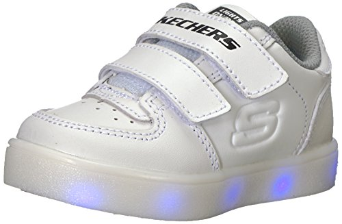 the best attitude 417bf 7130c Skechers Energy Lights, Zapatillas para Bebés, Blanco (White), 25 EU
