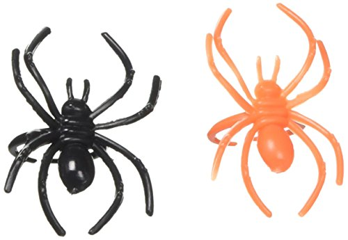 amscan International 394226 Für Spider Ring (Orange Und Schwarze Halloween Gesicht Malen)
