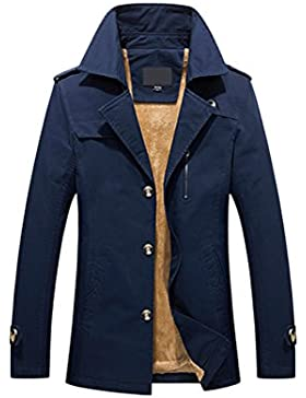 Zhhlaixing Clásico Winter Mens Thick Coats Outdoor Warm Jackets Faux Fur Lined