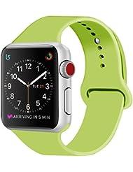 ZRO für Apple Watch Armband, Soft Silikon Ersatz Uhrenarmbänder für 38mm iWatch Serie 3/ Serie 2/ Serie 1, Größe S/M, Grün