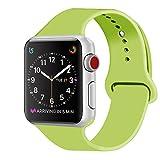 ZRO für Apple Watch Armband, Soft Silikon Ersatz Uhrenarmbänder für 42mm iWatch Serie 3/ Serie 2/ Serie 1, Größe M/L, Grün