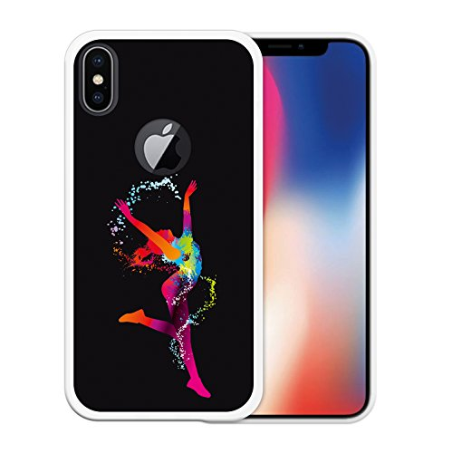 iPhone X Hülle, WoowCase Handyhülle Silikon für [ iPhone X ] Schwarzer Basketballspieler Handytasche Handy Cover Case Schutzhülle Flexible TPU - Schwarz Housse Gel iPhone X Transparent D0030