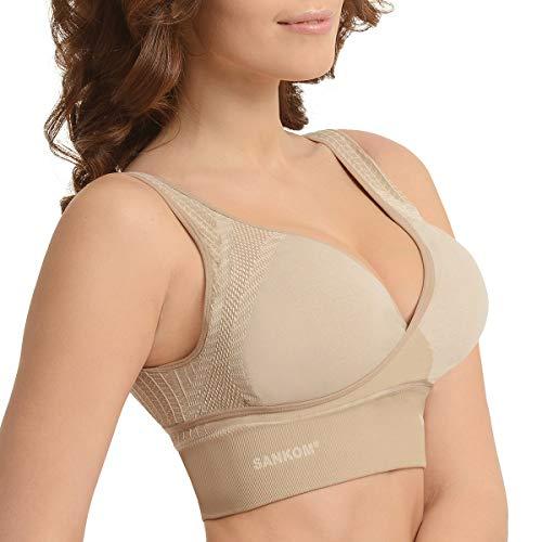 Shop LC Delivering Joy SANKOM BH mit kühlenden Fasern, kabellos, Beige - beige - Klein/Mittel Beige Cam Cover