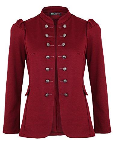 Damen Blazer Militäry Style ( 513 ) (44 / XXL, Bordeaux)