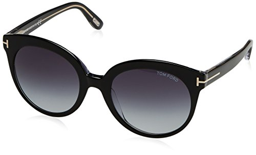 Tom Ford Damen FT0429 03W 54 Sonnenbrille, Schwarz (Nero/Cristallo/Blu Grad)
