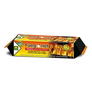 FUEGO NET Fuegonet 231095N Tronco, Marrón, 39.5×7.5×7.5 cm