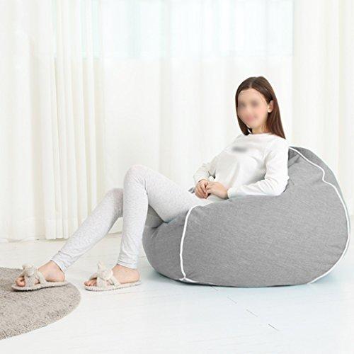 Canapé Lounger Bean Bag Chambre Salon Chaise Unique Lavable Lavable (Couleur : Gris clair)