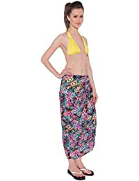 THE BEACH COMPANY FLORAL MOROCCAN POMPOM SARONG