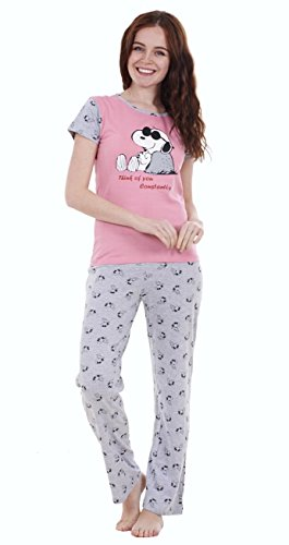 Ladies 2 Piece Summer Snoopy Pyjamas Girls Short Sleeve Mickie Minnie Shorts PJ - 417VtOOB9nL - Ladies 2 Piece Summer Snoopy Pyjamas Girls Short Sleeve Mickie Minnie Shorts PJ