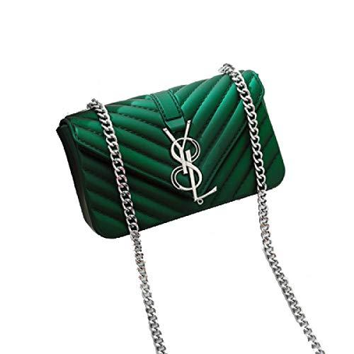 Preisvergleich Produktbild 2018 Mode Damen Matte Frosted Jelly Bag Kette Tasche Schulter Messenger Bag Handtasche Mini Bag Grün(18 * 7 * 12cm)