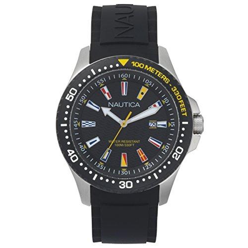 Nautica Homme Analogique Quartz Montre avec Bracelet en Silicone NAPJBC003