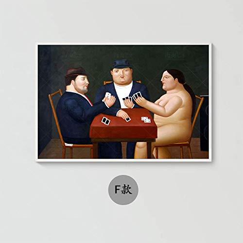 Ölgemälde Auf Leinwand Handgemalt,Abstrakte Bild Malen,Cartoon Fette Mann Und Frau Poker Zu Spielen,Große Moderne Kunst Wandmalerei Verzierung Artwork Für Wohnzimmer Flur Eingang Schlafzimmer,44