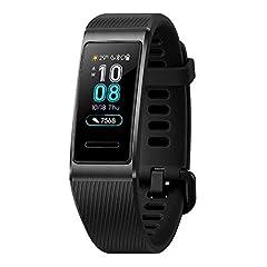 Idea Regalo - Huawei Band 3 Pro Resistenza all'acqua 5 ATM e GPS Integrato, Analisi del Sonno con AI e Monitoraggio Continuo del Battito, Display AMOLED a colori da 0.95