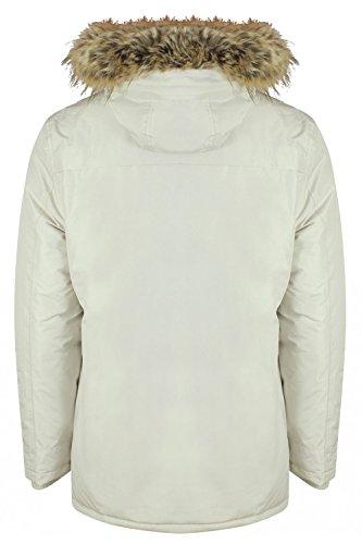 Tokyo Laundry Herren Jacke Winter-Weiß