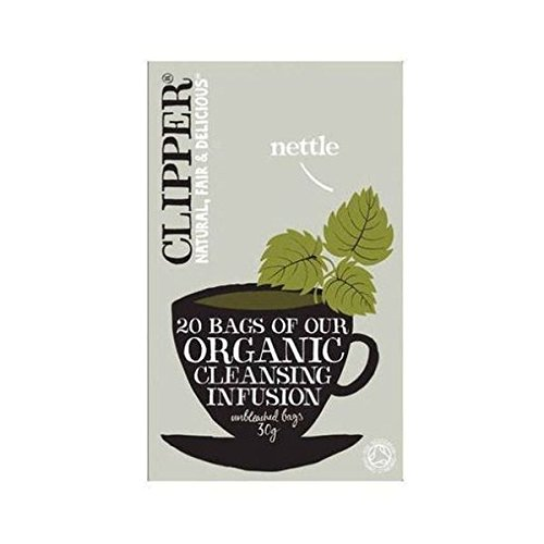 A photograph of Clipper organic nettle and peppermint